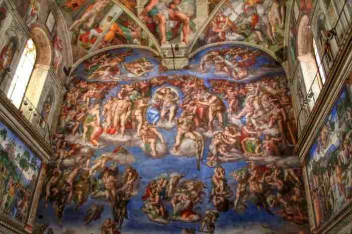 Sistine chapel gay lovers