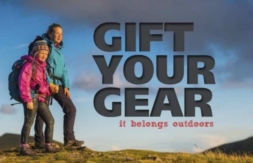 Gift Your Gear it belongs outdoors