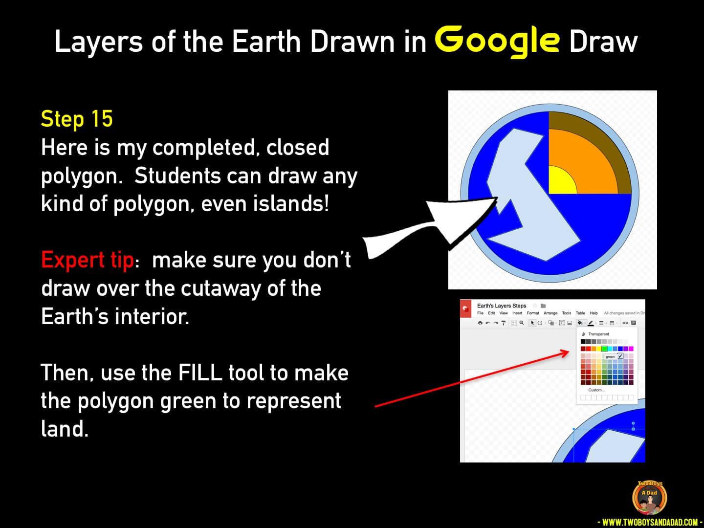 Use Google Draw in the classroom Step 15