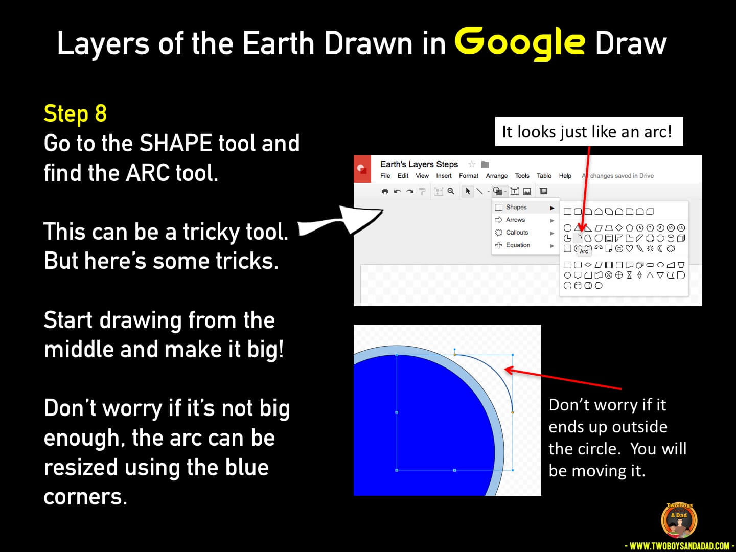 Use Google Draw in the classroom Step 8