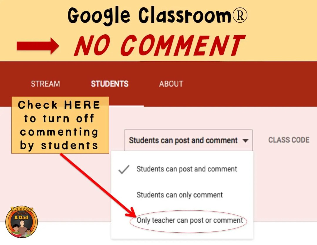 1:1 Classroom Tips How to turn of student commenting