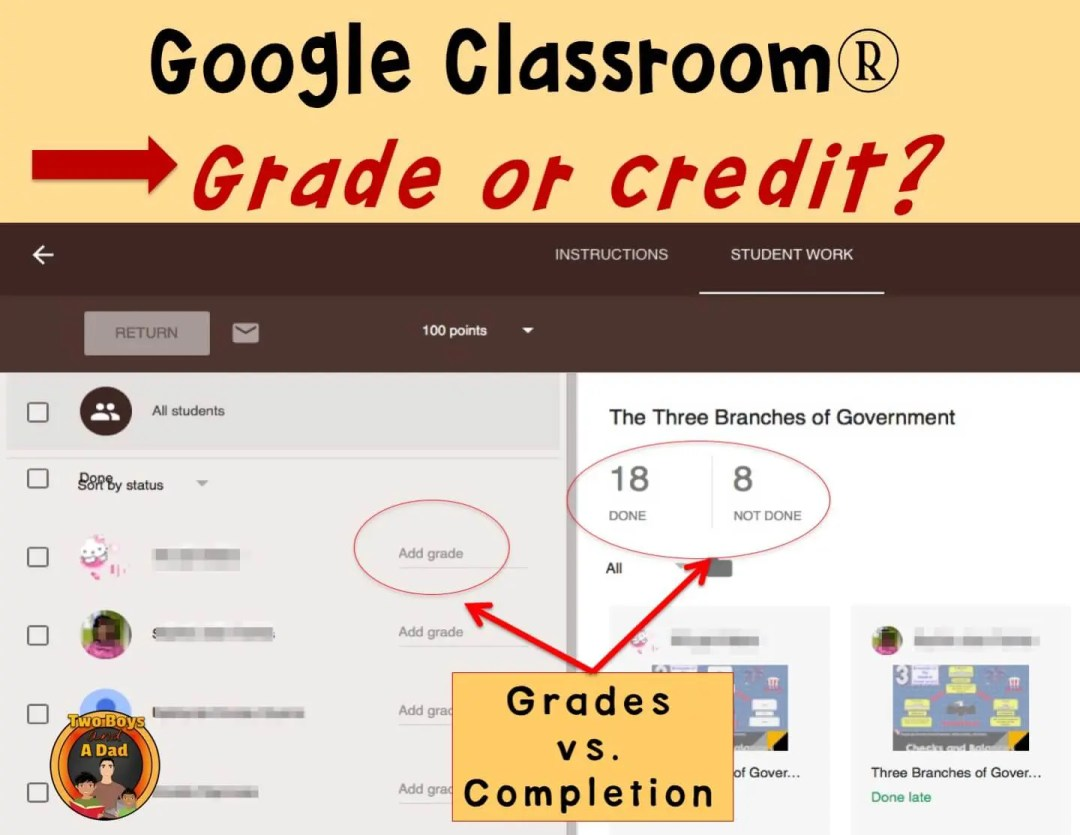 1:1 Classroom Tips Giving a grade or giving credit