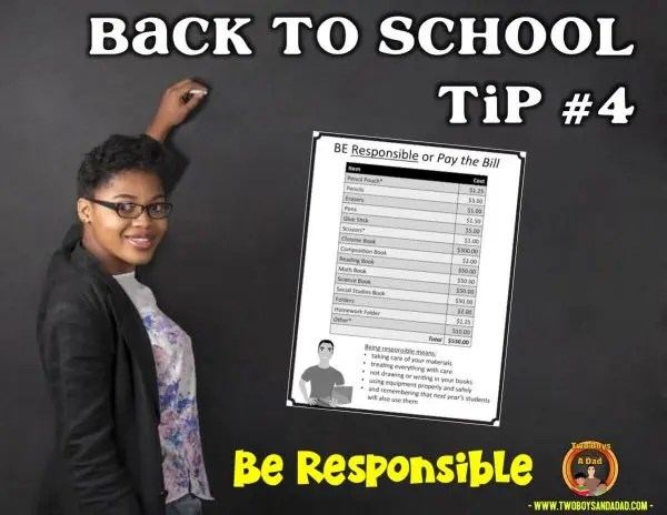 Back to School Tips Be Responsible with School Supplies