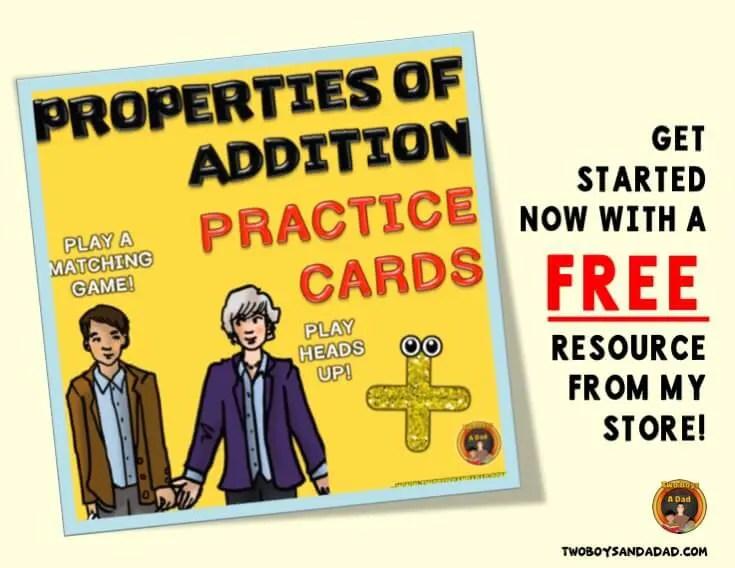 Properties of Addition Freebie