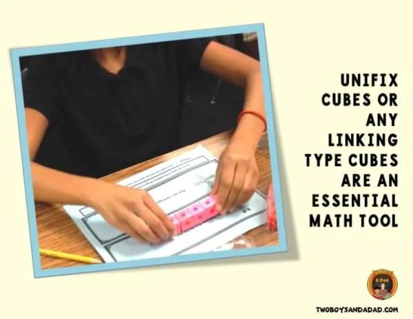 Unifix cubes as a math tool
