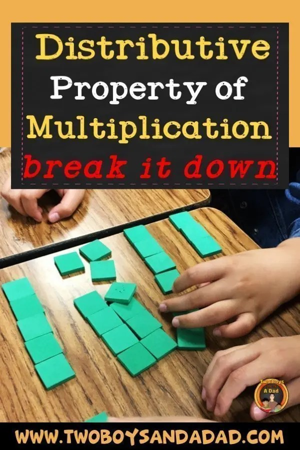 When your third grade students are learning the Distributive Property of Multiplication, do you break it down? Check out my two day lesson, anchor chart and activities I use to teach the Distributive Property of Multiplication. #twoboysandadad #math #thirdgrade #3rdgrade #commoncore #distributiveproperty