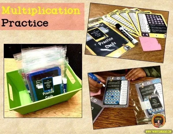 learning multiplication practice center
