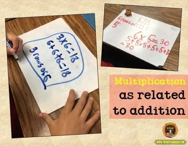 learning multiplication with repeated addition