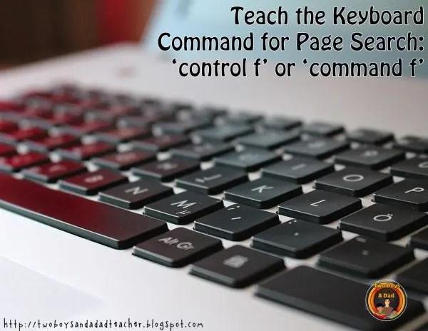 search using Control F Key