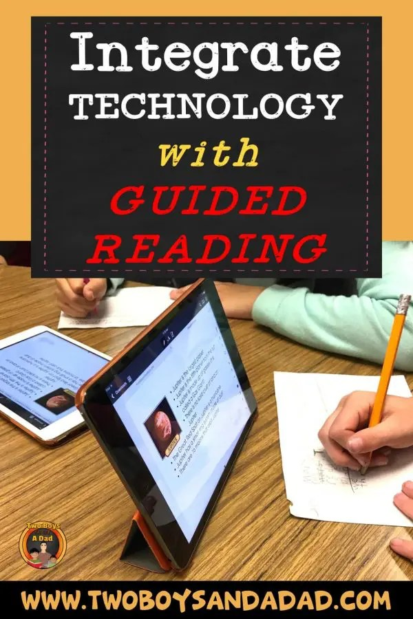 Integrate Technology with Guided Reading using iPads! I use my iPad Pro during guided reading for mini-lessons. I use PDFs for guided reading material on student iPads. Read more about it on my blog! #twoboysandadad #ipad #guidedreading #elementary #teacher