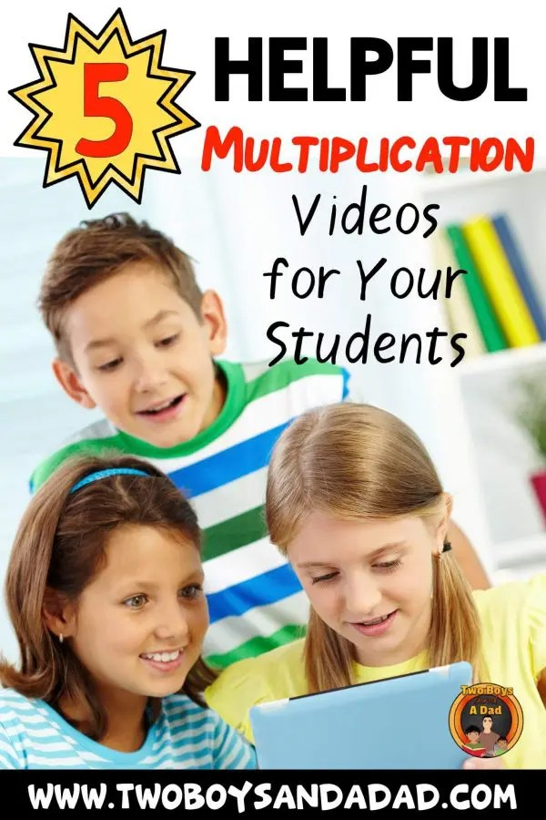 Have your students watch these YouTube multiplication videos to learn the multiplication facts. Take advantage of the multiplication fact videos for kids that keep them engaged with snappy songs and tunes. #twoboysandadad #multiplication #3rdgrade #math #videos