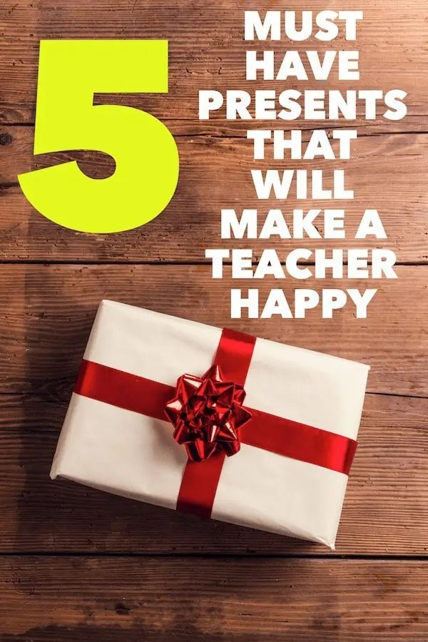 Students always enjoy giving presents to teachers at Christmas, the end of the year or as a thank you. But, let teachers tell you what we really want. Click to read more. #teachers #presents #elementary #teaching #teacherlife