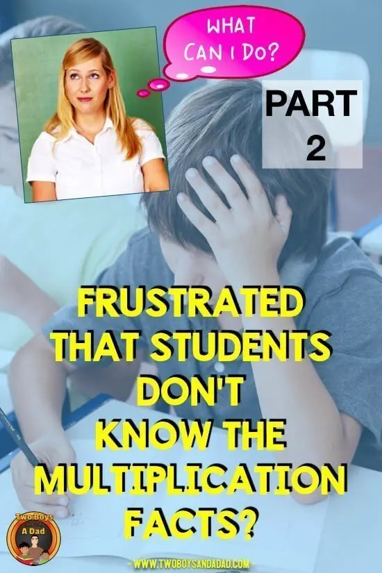 Achieving multiplication fluency is necessary as students move up the grades. How do you achieve fact fluency? With multiplication fluency strategies! Learn about the multiplication strategies that are more than just tricks or tips. Then download the FREE Guide to Achieving Multiplication Fluency. #twoboysandadad #multiplication #math #elementary #teaching