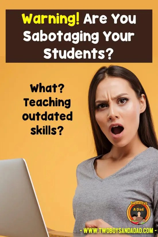 Are you wondering which skills to teach children are outdated? How about counting coins? Telling time on an analog clock? What about cursive writing? What should we be teaching? Click to read my 3 part blog post on outdated skills! #twoboysandadad #skills #teaching #elementary