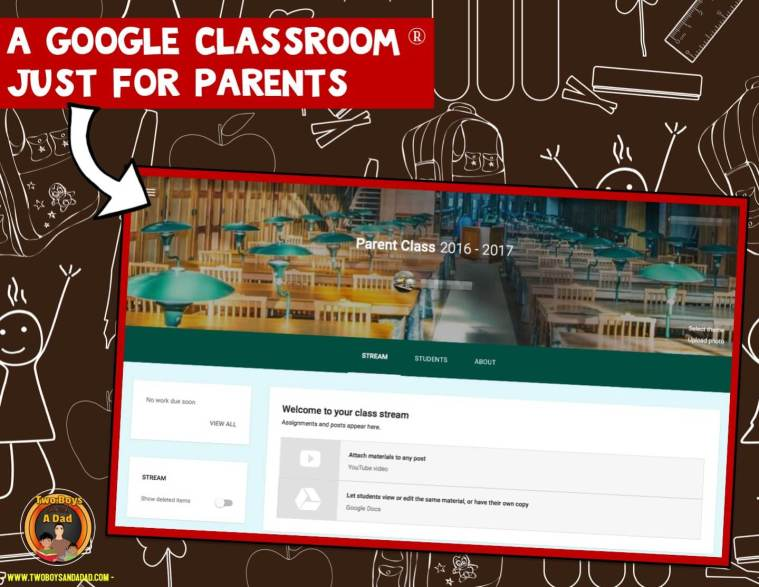 A Google Classroom just for parents