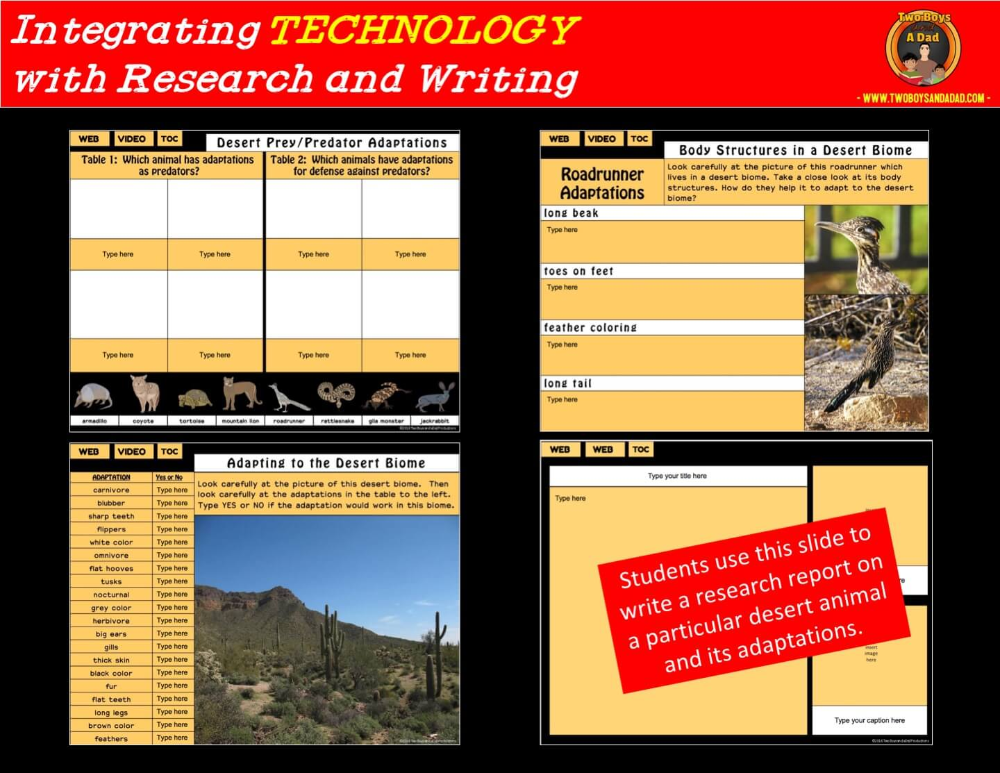 integrating technology with a digital interactive notebook on Google Slides