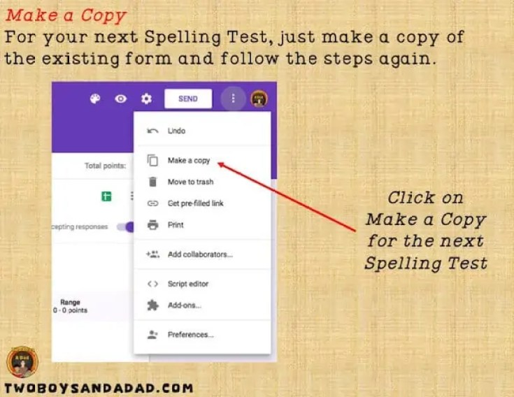 How to Make a Google Forms Spelling Test - Two Boys and a Dad