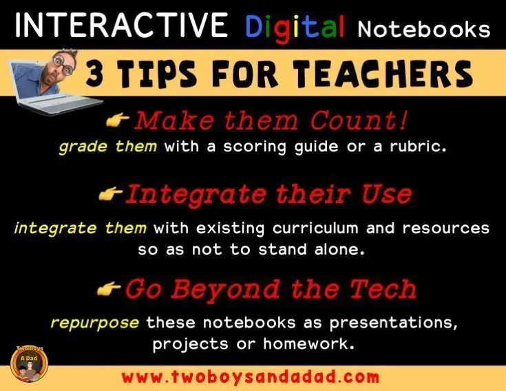 Digital notebooks tips for teachers