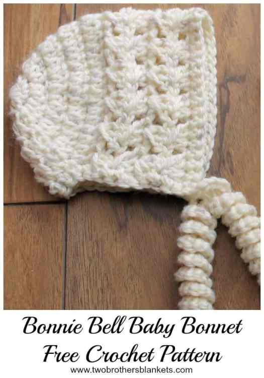 Bonnie Bell Baby Bonnet Free Crochet Pattern Two Brothers Blankets
