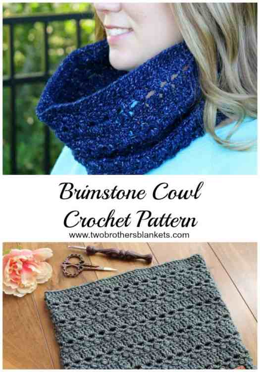 Brimstone Cowl New Crochet Pattern Two Brothers Blankets