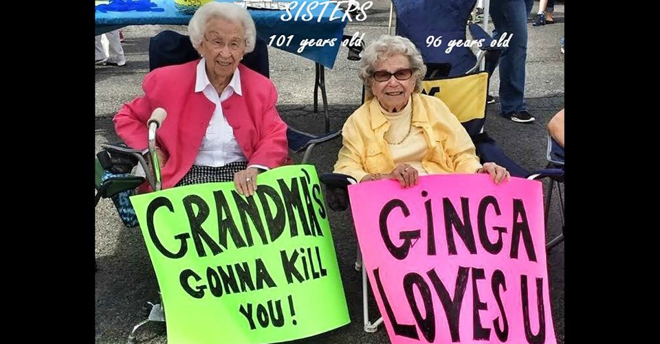 102-year-old foul-mouthed sisters from West Virginia flirt it up with Jimmy Kimmel