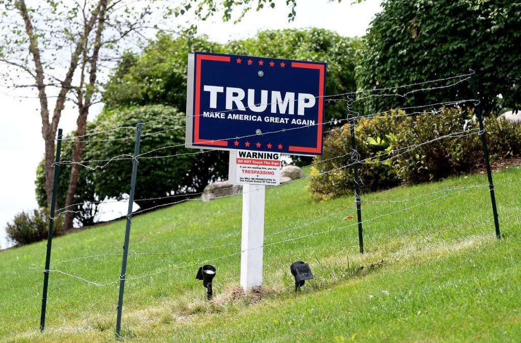 Albany Real Estate Mogul Builds A Wall Around His Trump Sign