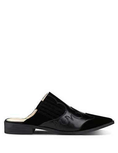 Nine West Sadrah Leather Point Toe Mules, Lord & Taylor   $32 (clearance)