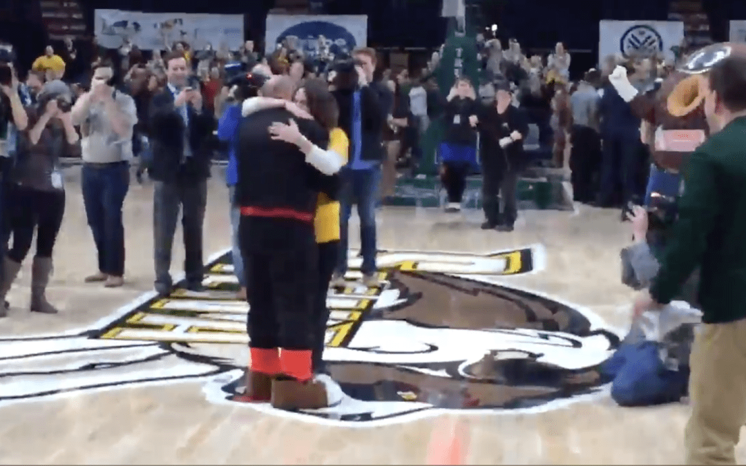 Siena Fan Makes Half Court Shot And Her Boyfriend Immediately Proposes To Her