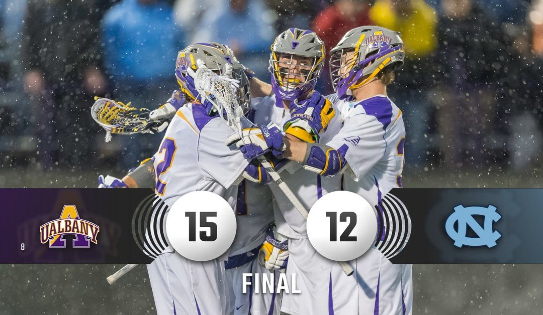 Apparently UAlbany Is Good At Lacrosse Since We Just Beat Defending National Champs To Kick Off The NCAA Tournament