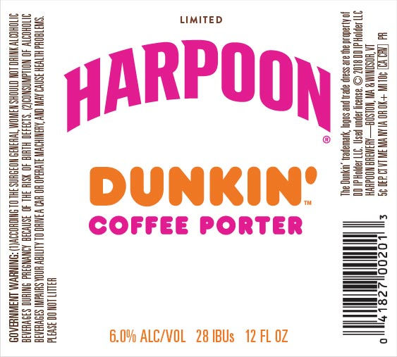 Boston-based Harpoon Brewery Set to Collab With Dunkin' Donuts on Coffee Porter Beer