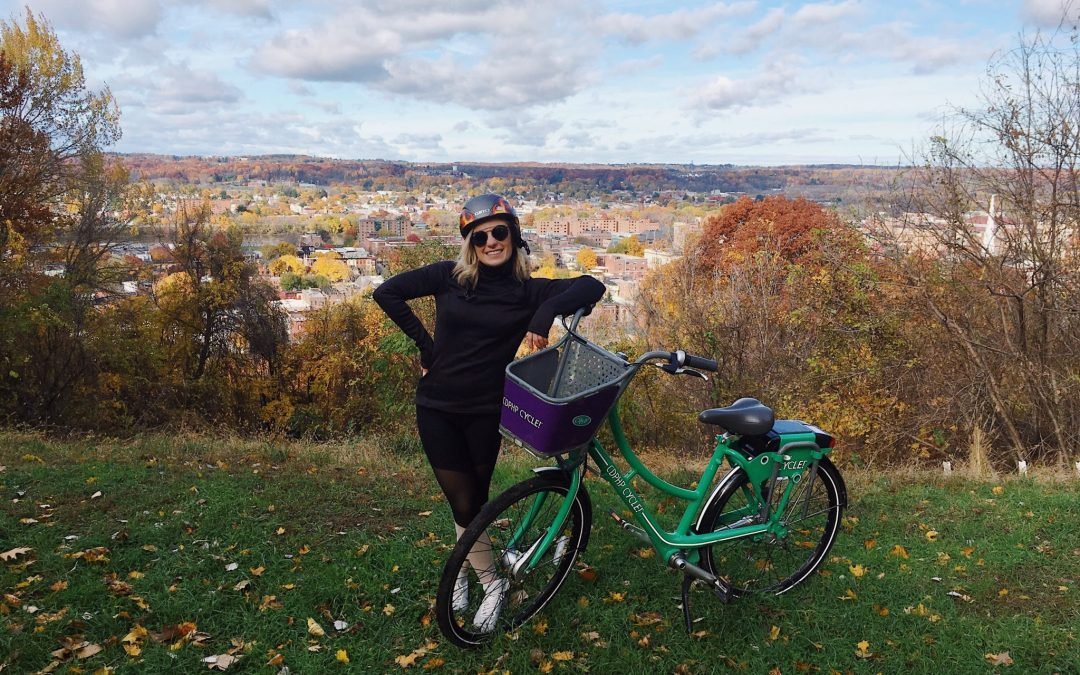 I Went on the Perfect Fall Bike Ride with my Sweet Helmet and CDPHP Cycle