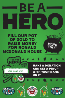 Be a Barroom Hero and Help 2BD and Magic Hat Raise Money for the Ronald McDonald House
