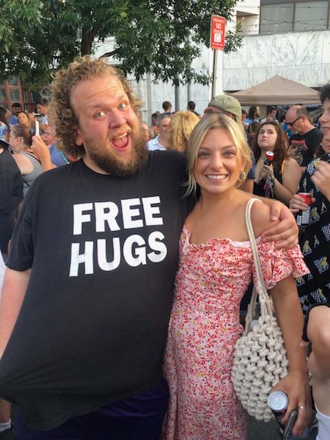I Hugged Free Hugs Guy at Schenectady County SummerNight