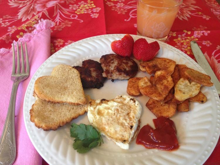Heart breakfast