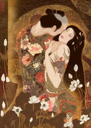 """""""Kuchidzuke"""" (a tribute to Gustav Klimt)"""