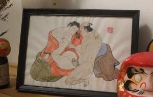 Red kimono shunga