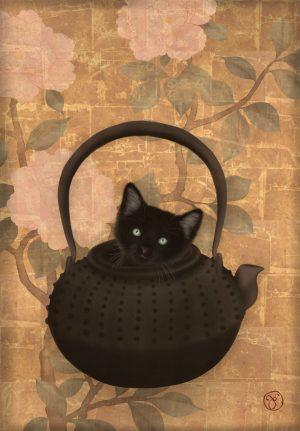 Teapot kitten
