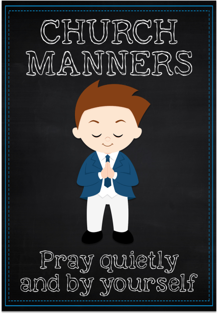 Church Manners Posters