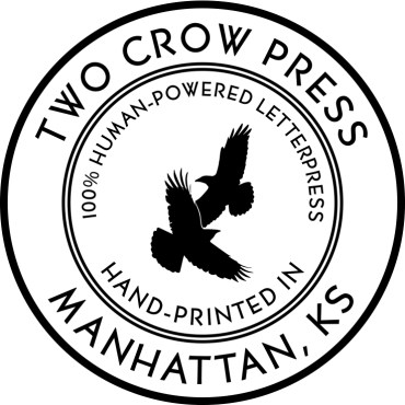 Two Crow Press Seal for small uses (stamps, stickers, etc.)
