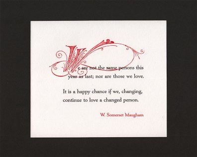 Maugham Red W