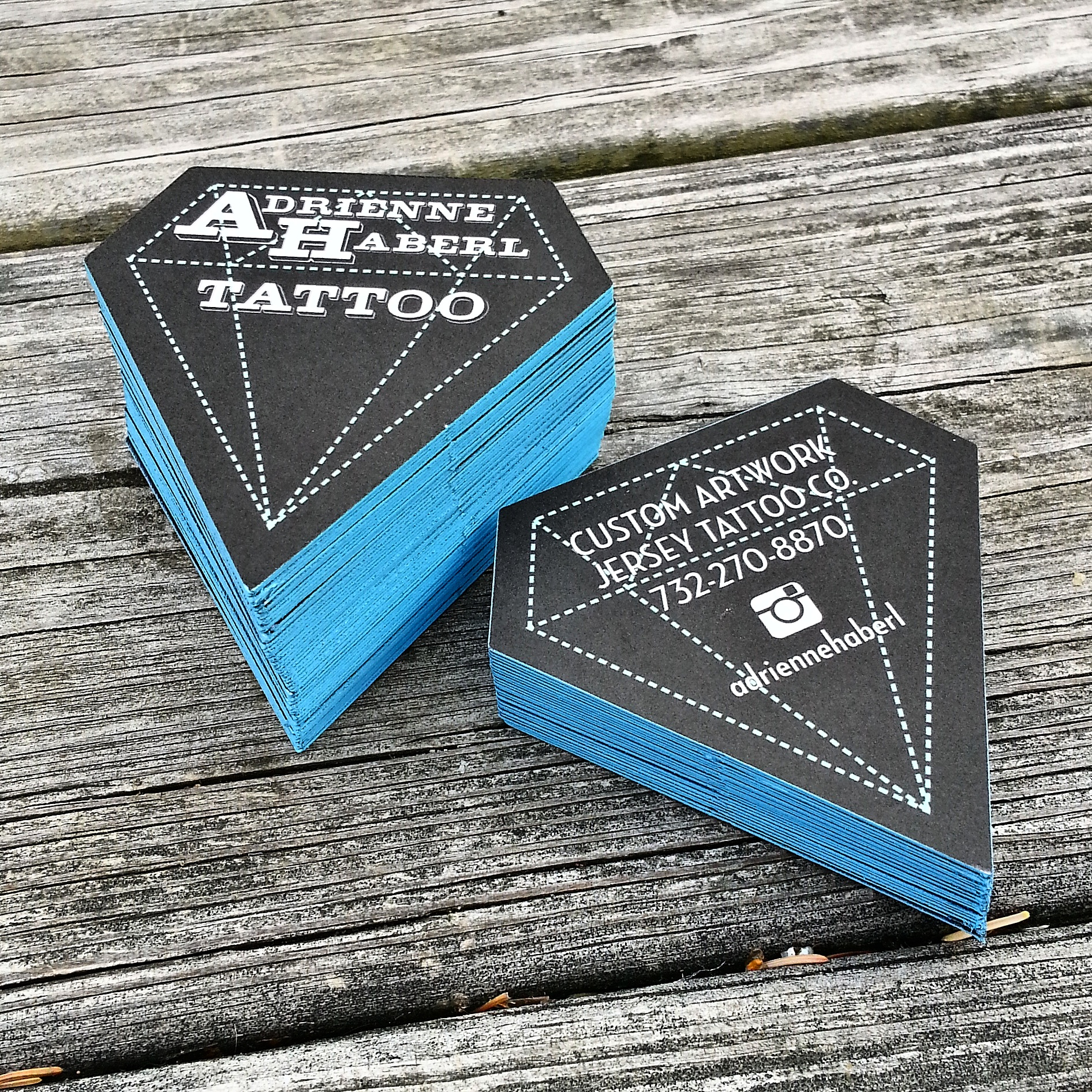 Diamond shaped business cards adrienne haberl magicingreecefo Choice Image