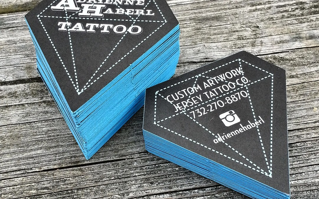diamond shaped business cards