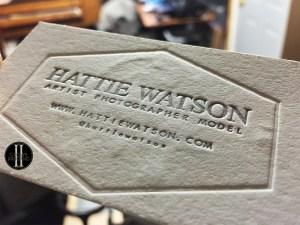 Hattie Watson Letterpress Business Cards