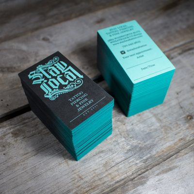 Two Crows Printing Edge Painted Business Cards