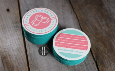 Circle shaped business cards.