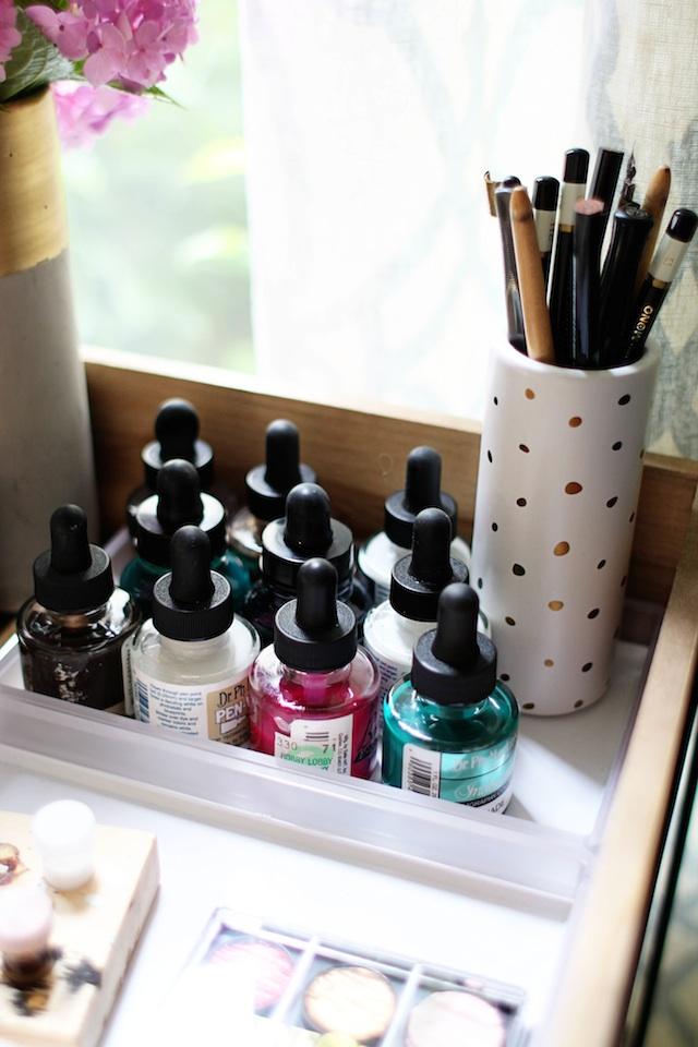 Calligraphy cart ink blog