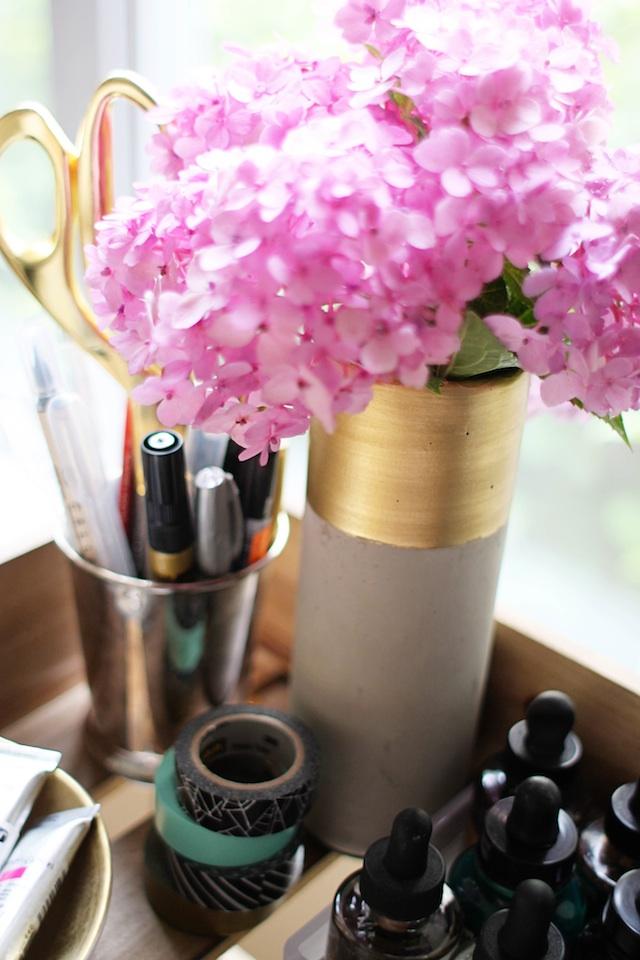 Calligraphy cart vase blog
