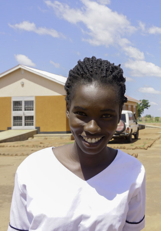 One of the nurses of Uganda working in a refugee camp