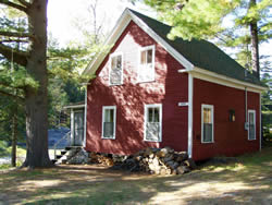Goff cabin as it stands today, was built in 1920 and still used by our Two Falls Camps guests.