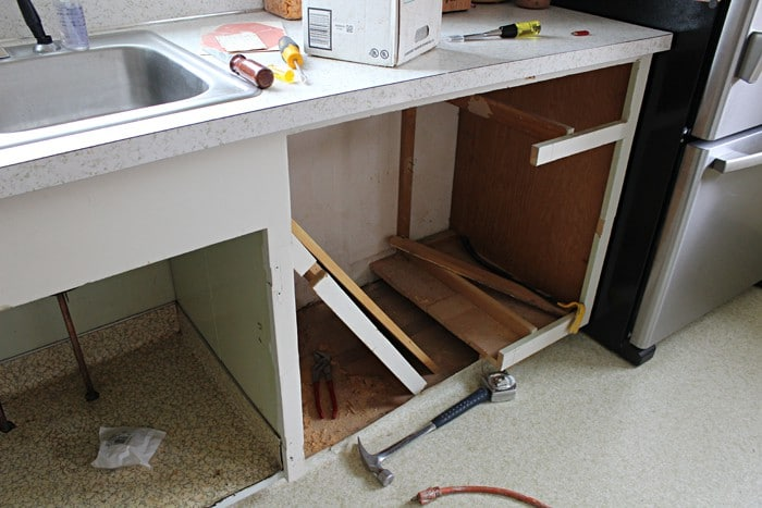 Building Dishwasher Cabinet